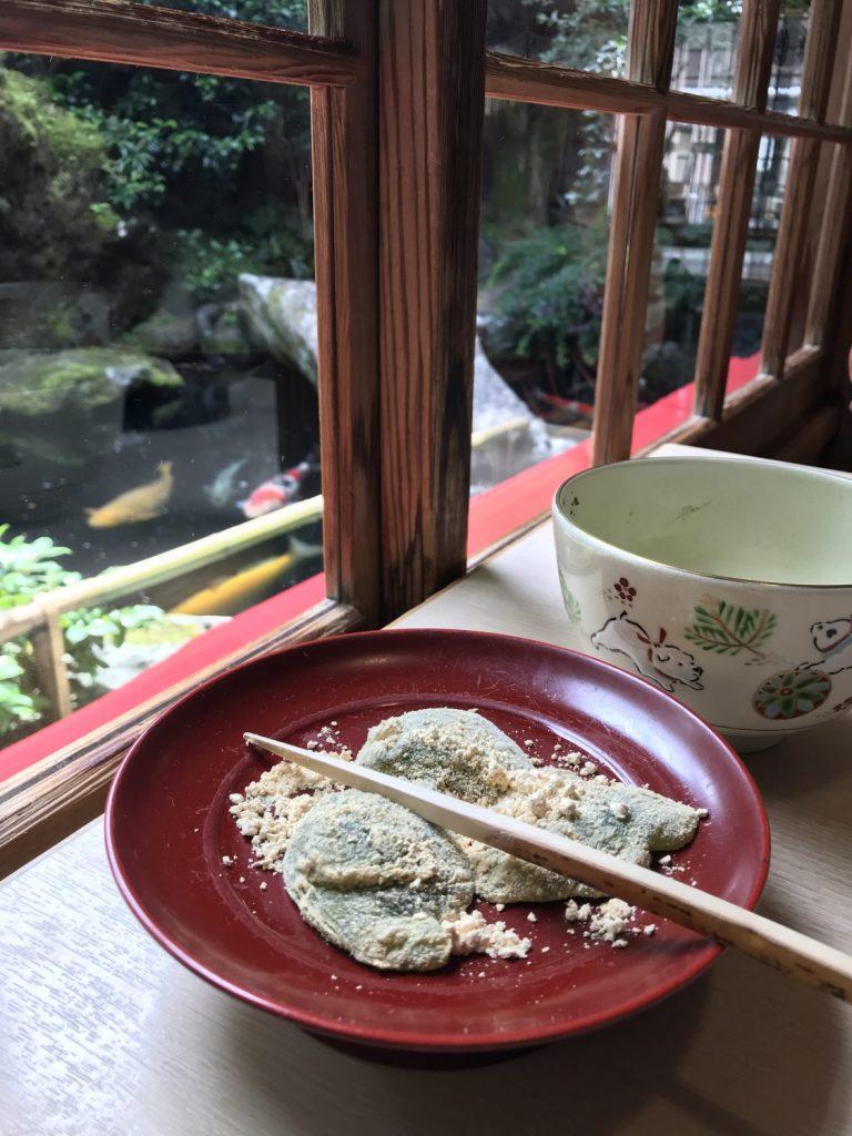 Warabi Mochi and Tea